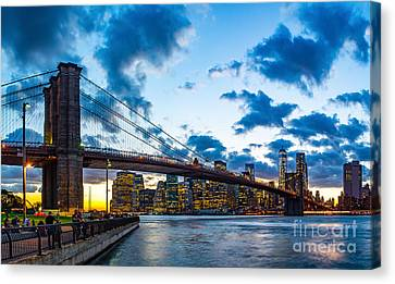Brooklyn Bridge Evening Canvas Print