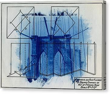 Brooklyn Bridge Canvas Print by Jane Linders