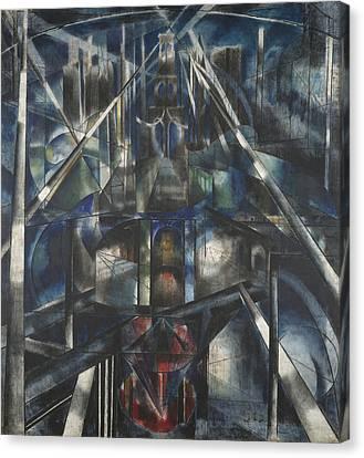Brooklyn Bridge Canvas Print by Joseph Stella