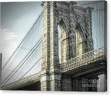 Manhatten Canvas Print - Brooklyn Bridge by Luther Fine Art