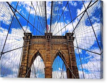 Brooklyn Bridge Canvas Print by Mariola Bitner