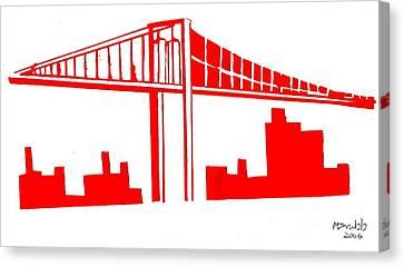 Brooklyn Bridge Canvas Print by Michael Grubb