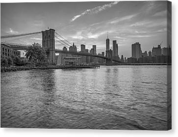 Brooklyn Bridge Monochrome Canvas Print by Scott McGuire