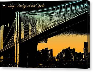 Brooklyn Bridge New York Canvas Print