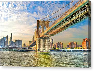 Brooklyn Bridge Canvas Print by Randy Aveille
