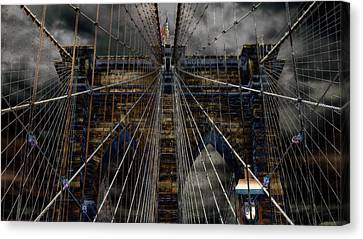 Brooklyn Bridge - Surreal Canvas Print