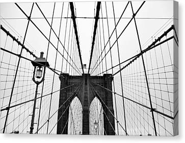 Brooklyn Bridge Canvas Print by Thank you for choosing my work.