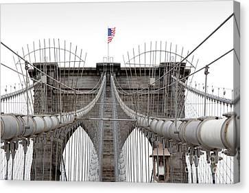 Brooklyn Bridge Top Canvas Print