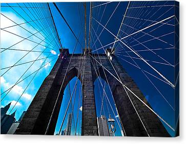 Brooklyn Bridge Vertical Canvas Print by Thomas Splietker