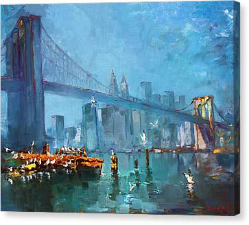 Brooklyn Bridge Canvas Print by Ylli Haruni