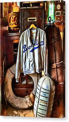 Canvas Print featuring the photograph Brooklyn Dodgers Baseball  by Thom Zehrfeld