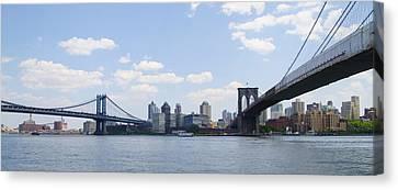 Brooklyn New York From Manhattan Canvas Print by Bill Cannon