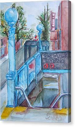 Brooklyn Subway Stop Canvas Print