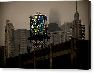 Canvas Print featuring the photograph Brooklyn Water Tower by Chris Lord