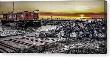 Brooklyn Waterfront Sunset Canvas Print