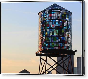 Brooklyn's Glowing Glass Water Tower - Public Art Canvas Print