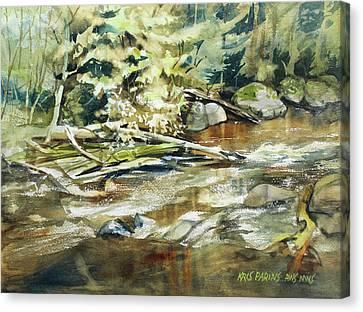 Brookside Canvas Print by Kris Parins