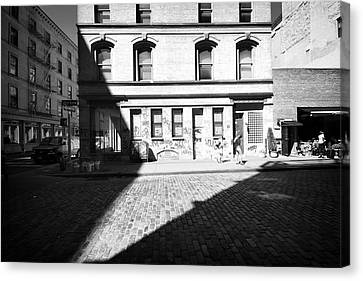 Canvas Print featuring the photograph Broome Street Nyc by Dave Beckerman