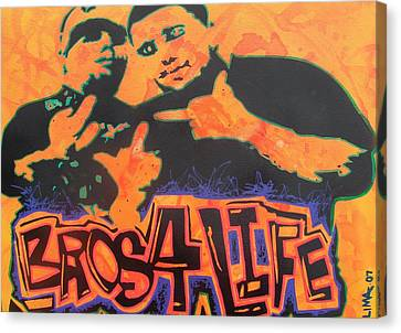 Bros 4 Life Canvas Print by Ottoniel Lima