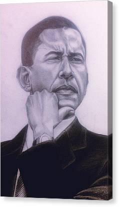 Brotha President Canvas Print by Malik Seneferu