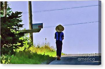 Brother Canvas Print by Laura Mace Rand