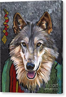 Brother Wolf Canvas Print by J W Baker