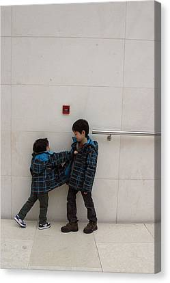 Canvas Print featuring the photograph Brotherly Love 1 by Jez C Self