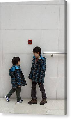 Canvas Print featuring the photograph Brotherly Love 2 by Jez C Self