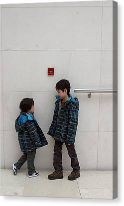 Canvas Print featuring the photograph Brotherly Love 3 by Jez C Self