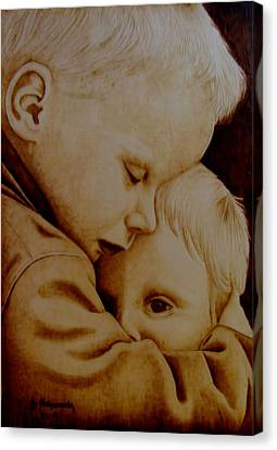 Brotherly Love Canvas Print by Jo Schwartz