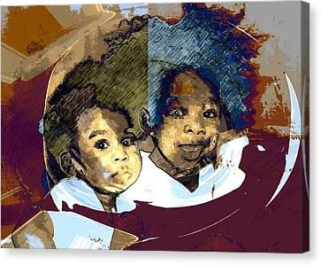 Brothers 1 Canvas Print by LeeAnn Alexander