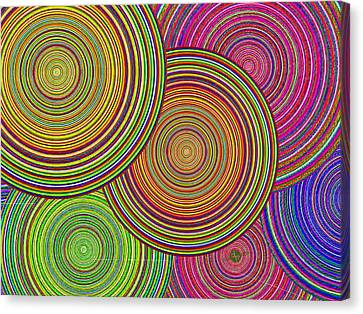 Brothers And Sisters Circles Unite In Dignity And Respect 1 Canvas Print by Tony Rubino