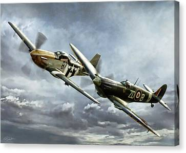 Brothers In Arms 2 Canvas Print