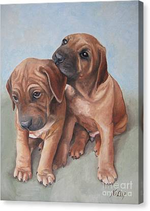 Brothers Canvas Print by Jindra Noewi