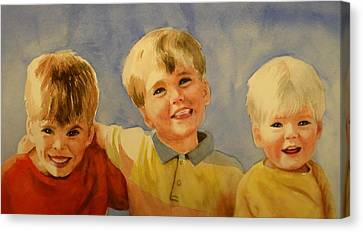 Brothers Canvas Print by Marilyn Jacobson
