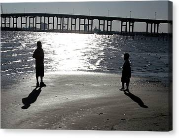 Brothers -- Shadows And Silhouette Canvas Print by Cora Wandel