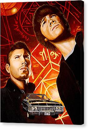 Brothers Winchester Canvas Print by Al  Molina