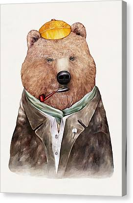 Brown Bear Canvas Print by Animal Crew