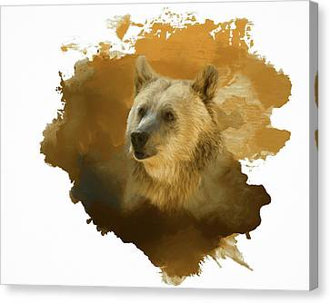 Canvas Print featuring the painting Brown Bear by Steven Richardson
