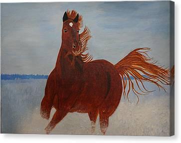 Brown Beauty Canvas Print by Shweta Singh
