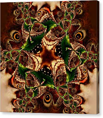 Brown Butterfly Collage Canvas Print by Irma BACKELANT GALLERIES
