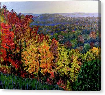 Brown County Autumn Canvas Print by Stan Hamilton