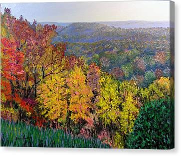 Brown County Vista Canvas Print by Stan Hamilton