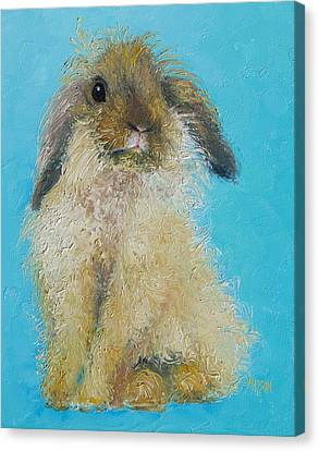 Brown Easter Bunny Canvas Print