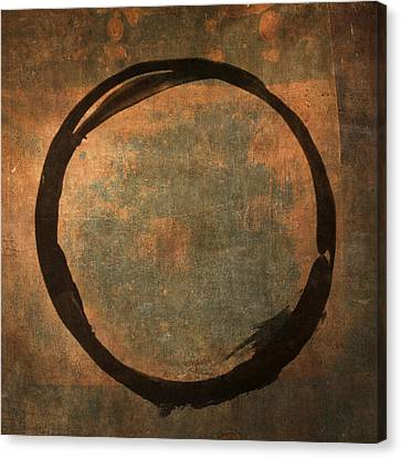 Abstract Expressionism Canvas Print - Brown Enso by Julie Niemela