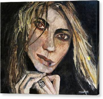 Brown Eyed Girl Canvas Print by Penfield Hondros