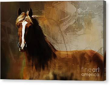 Barn Jq Licensing Canvas Print - Brown Horse Pose by Gull G