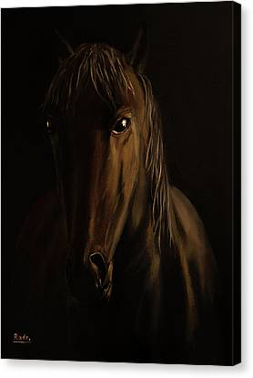 Brown Horse Canvas Print by Radoslav Nedelchev