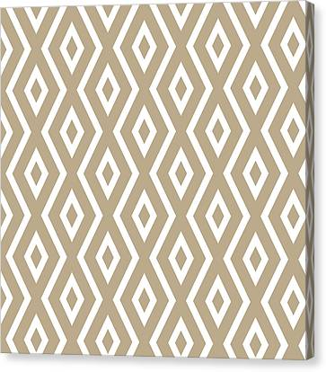Brown Pattern Canvas Print by Christina Rollo