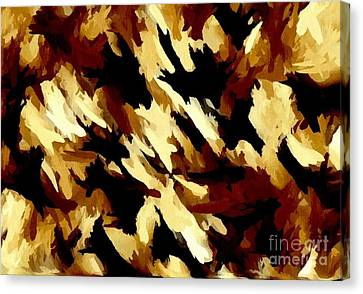 Brown Tan Black Abstract II Canvas Print